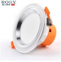 朗士照明 led天花筒灯5W过道射灯3w 开孔65-95mm嵌入式牛眼孔灯 3W