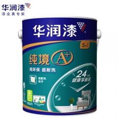 华润漆 纯境A+纯环保超耐洗五合一内墙漆  定金 5L