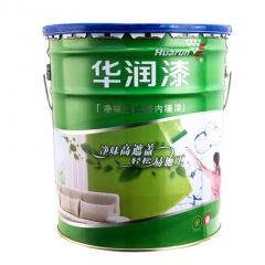 华润漆净味高遮盖内墙乳胶漆 白色室内面漆 油漆涂料 18L