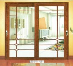 欧尚名门 吊趟门系列 红胡桃A-010 图片色 铝合金(具体咨询客户) 定金