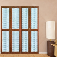 欧尚名门 折叠门系列 红胡桃C-128 冰雕玻璃 可定制 图片色 铝合金(具体咨询客户) 定金