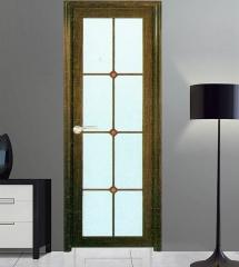 欧尚名门 圆弧平开门系列 黑胡桃D-156 格条玻璃 可定制 图片色 铝合金(具体咨询客户) 定金
