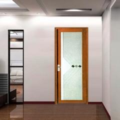 欧尚名门 平开门系列 红胡桃E-203 暗花玻璃 可定制 图片色 铝合金(具体咨询客户) 定金