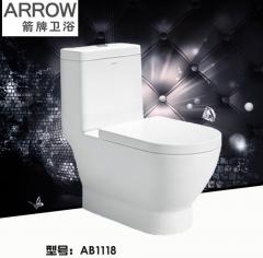 ARROW箭牌卫浴喷射虹吸式连体坐便器AB1118