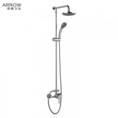 箭牌卫浴升降明杆淋浴器圆形顶喷单把双控龙头手持花洒