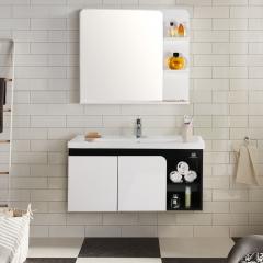 九牧卫浴PVC浴室柜组合洗漱台洗脸盆浴室储物柜化妆镜