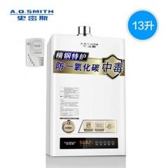 史密斯 13升TM 恒温燃气热水器家用天然气AO防CO中毒 13L