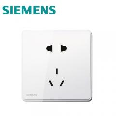 西门子开关插座面板睿致系列象牙白墙壁插座 10A五孔插座面板5UB8114-3NC02 澳星照明