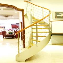 金优维梯业实木楼梯客厅弧形楼梯装修复式阁楼实木楼梯定制 咨询客服 咨询客服 付款方式:定金
