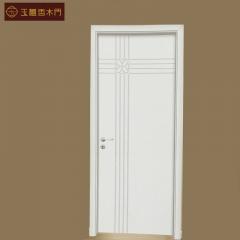 玉檀香木门白橡平板实木门11