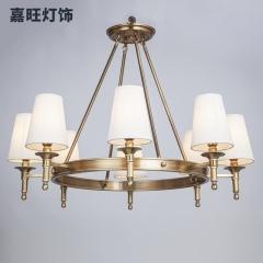 嘉旺灯饰 全铜灯欧式客厅灯具乡村现代简约创意个性卧室灯