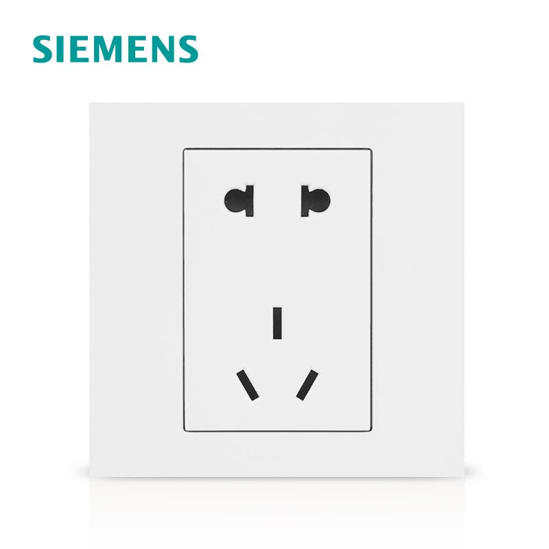 成都明亮彩商贸有限公司西门子开关插座 点晶雅白系列