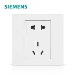 成都明亮彩商贸有限公司西门子开关插座 点晶雅白系列五孔电源插座5孔插座面板