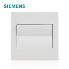 成都明亮彩商贸有限公司西门子开关插座面板 点晶雅白系列墙壁一开双控