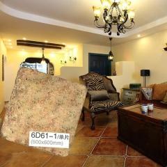 意大利加德妮冠田园复古砖 6D61-1 600*600 客厅厨房卧室阳台防滑复古砖 颜色:图片色