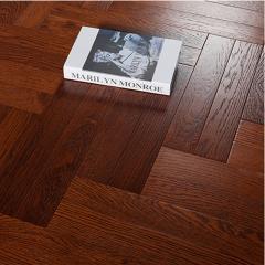 莱茵岛地板 多层实木地板 环保家装防水高耐磨 黑胡桃人字拼TY5002 ㎡(定金)