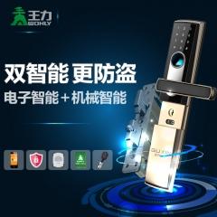 王力指纹锁 家用智能门锁 防盗门电子锁 防复制大门密码锁Z200
