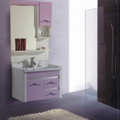 朗家浴室柜组合 PVC 卫生间洗漱台洗手台盆洗脸盆卫浴镜柜 1028 套