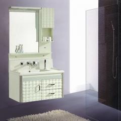朗家浴室柜组合 PVC 高档微晶石 带龙头灯 卫生间洗漱台洗手台盆洗脸盆卫浴镜柜 1012 定金