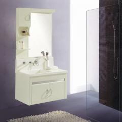 朗家浴室柜组合 PVC 高档微晶石 带龙头灯 卫生间洗漱台洗手台盆洗脸盆卫浴镜柜 1016 定金