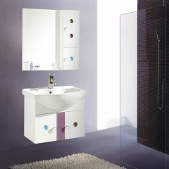 朗家浴室柜组合 PVC 卫生间洗漱台洗手台盆洗脸盆卫浴镜柜 1106 定金