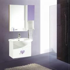 朗家浴室柜组合 PVC 卫生间洗漱台洗手台盆洗脸盆卫浴镜柜 1105 定金