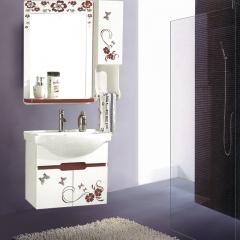 朗家浴室柜组合 PVC 卫生间洗漱台洗手台盆洗脸盆卫浴镜柜 1111 定金
