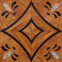 安心地板实木复合地板 黑酸枝 亚花梨 高档稀有 墙面地面水晶拼花地板 ㎡