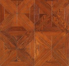 安心地板实木复合地板 拼花地板 榆木 15mm手抓纹复古仿古浮雕地热地暖 ㎡