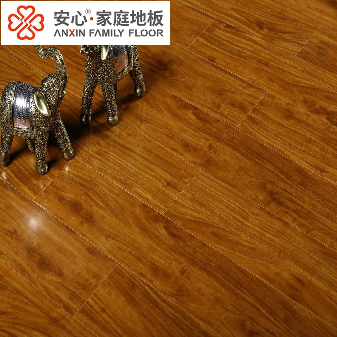 安心地板复合地板 中式装修 别墅仿古家用木地板 仿柚木 环保