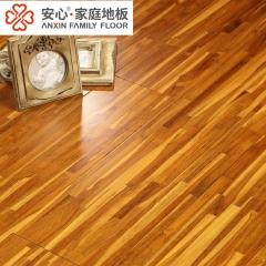 安心地板实木复合地板 柚木指接平面半哑光 柚木免漆板 多层环保实木地板 柚木指节