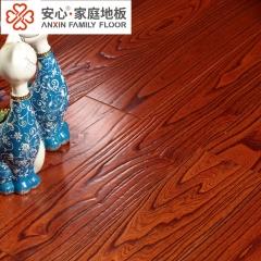 安心地板实木复合多层地板楝木 仿古浮雕 防潮防腐 厂家直销 ㎡