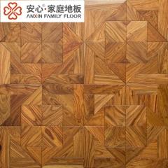 安心地板多层实木复合地板 花梨木拼花地板 酒店餐厅背景墙木饰贴面板 ㎡
