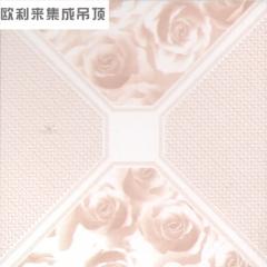 欧利来吊顶 热渗透高边系列 客厅厨房集成吊顶 3D浪漫玫瑰  定金 定金