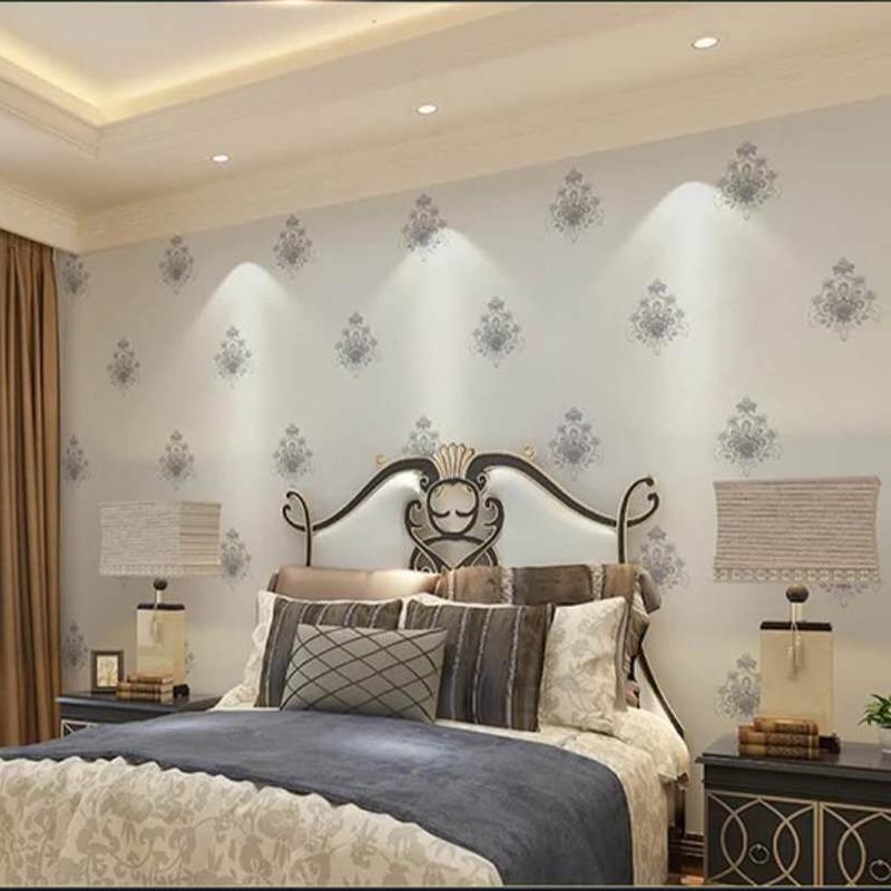 美奂美仑墙纸卧室客厅书房壁纸简约风格墙纸 爆款墙布