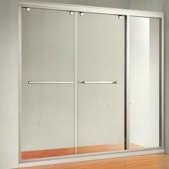 精瑞淋浴房定制 铝材一字型简框互推门淋浴房 定金