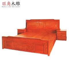 旺角木雕仿古家具中式实木雕花定制家具客厅卧室组合家具D-50 图片色 实木 可定制 定金