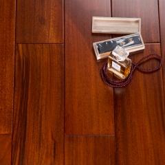 福龙地板实木地板圆盘豆<亚光红> 18MM木地板 910*93*18
