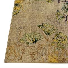 海马地毯 中式风格叶子长方形地毯 客厅餐厅卧室书房地毯R9171/H105B 1.4M*2M
