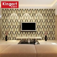 凯雅特壁纸抽象现代简约无纺布植绒墙纸客厅卧室电视背景墙 定金