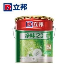 铭宿之心立邦漆 净味120竹炭五合一室内油漆涂料 白色内墙墙面漆乳胶漆 15L