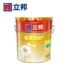 铭宿之心立邦漆 金装净味五合一乳胶漆 内墙面漆水漆油漆涂料 刷墙漆 18L