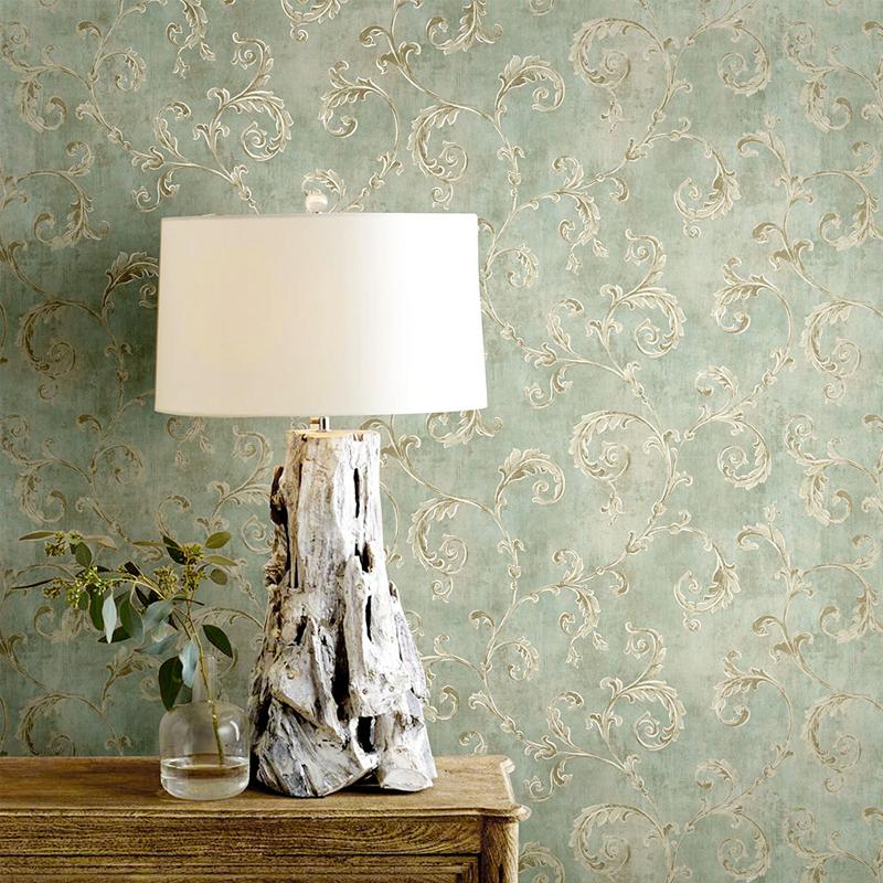 威尔森欧式壁纸奢华 卧室无纺布电视背景墙墙纸 美式复古客厅壁