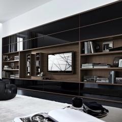 塞维利亚定制家居全屋定制电视柜3 图片色 颗粒板柜体+烤漆门 ㎡ 定金