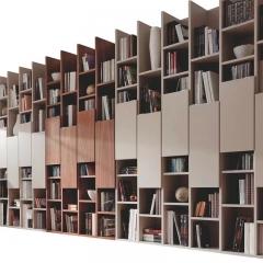 塞维利亚定制家居全屋定制书柜5 图片色 颗粒板柜体+平板门 ㎡ 定金