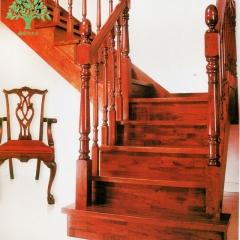 鑫森宇木业 经典实木楼梯可材质样式定制 定金 定做 可定制 实木(可定制) 650元/步 650