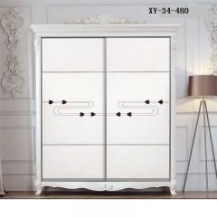 轩匠简约风格实木衣柜XY-34-480 图片色 实木 定制 订金