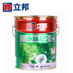 顺达装饰立邦漆 净味120竹炭五合一室内油漆涂料 白色内墙墙面漆乳胶漆 15L