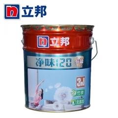 顺达装饰立邦漆 净味120竹炭抗菌三合一乳胶漆墙漆室内刷墙漆白彩色涂料 15L