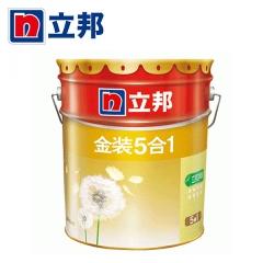 顺达装饰立邦漆 金装净味五合一乳胶漆 内墙面漆水漆油漆涂料 刷墙漆 18L